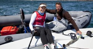 Annalise Murphy with Rory Fitzpatrick, the ISA youth & development manager. Photograph: David Branigan/Oceansport