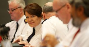 Garda Commissioner Nóirín O'Sullivan  at Dublin Castle during a meeting with the Policing Authority on Thursday. Photograph: Brian Lawless/PA Wire