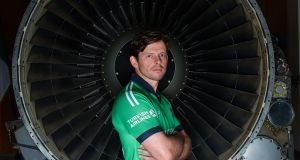 Ireland cricketer  Ed Joyce at the launch of the sponsorship deal between Cricket Ireland and Turkish  Airlines at the offices of  the Irish Aviation Authority in Dublin. Photograph: Brendan Moran/Sportsfile