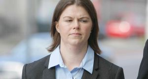 Sandra Higgins has pleaded not guilty at Dublin Circuit Criminal Court to intentionally or recklessly causing serious harm to a baby at her home in March, 2012. Photograph: Collins