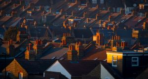 British house prices declined 0.4% in April, following a fall of 0.3% in March. Photograph: Dominic Lipinski/PA Wire