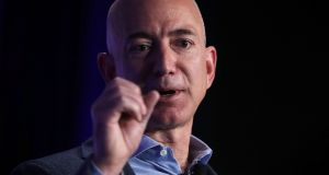 Jeff Bezos: his fortune has surpassed $80 billion for the first time, according to the Bloomberg Billionaires Index. Photograph:  Alex Wong/Getty Images