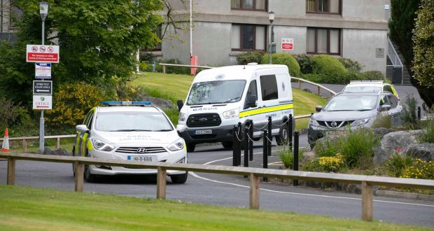 a8f033798b A Garda van leaves Waterford Court where Hassan Bal appeared on terrorism  charges. Picture