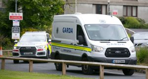 A Garda van leaves Waterford Court where Hassan Bal appeared on terrorism charges. Picture: Patrick Browne