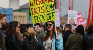 Dublin's  March for Science on Earth Day, April 22nd last. Photograph: Nick Bradshaw