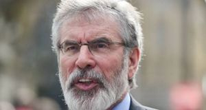"Sinn Féin leader Gerry Adams: he  said the draft guidelines published in advance of the summit ""fell short of what is required from Ireland's perspective"""