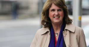 Former tánaiste Joan Burton arriving at  Dublin Circuit Criminal Court on Friday. Photograph: Colllins