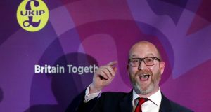 "Ukip leader Paul Nuttall:  said that June contest is a ""Brexit election"" on ""Ukip's turf"", and rubbished reports that the party is  badly organised and funded. Photograph: Jonathan Brady/PA Wire"