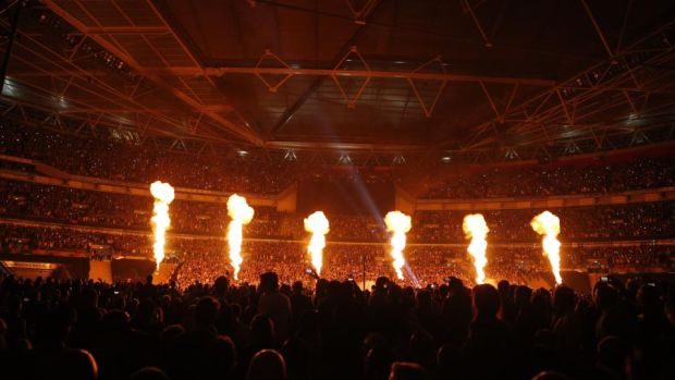 Wembley Stadium ahead of Froch and Groves. Photo: Getty Images