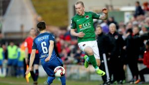 Cork's Stephen Dooley goes past Keith Buckely of Bray during their Airtricity League clash. Photo: Ryan Byrne/Inpho