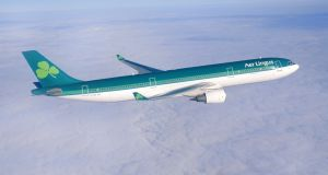 An Aer Lingus flight from Dublin to the US has returned to Dublin Airport after making a U-turn over the north Atlantic Ocean. File photograph: Aer Lingus