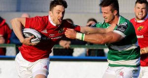 Darren Sweetnam scored two tries in Munster's Guinness Pro 12 victory over Benetton Treviso at   Stadio Monigo. Photograph: Marco Sartori/Inpho
