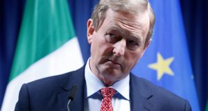 Enda Kenny told reporters in Brussels that the purpose of the  statement was to ensure  Brexit 'does not undermine any provision of the Good Friday Agreement' rather than to move towards Irish unity. Photograph: EPA