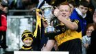 Dr Crokes's Johnny Buckley lifts the AIB All-Ireland senior club football championship cup in Croke Park in March. Photograph: Donall Farmer/Inpho