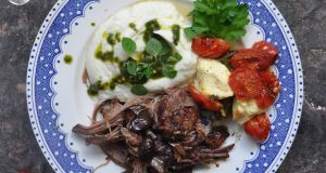 Lilly Higgins: Lamb with olives and baked feta