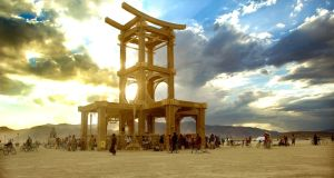 Burning Man installation 'The Temple of Forgivness' by David Best and Tim Dawson