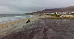 A Google Street View of the beach at Dooagh, Achill, which was washed away in a storm in 1984 and has now returned