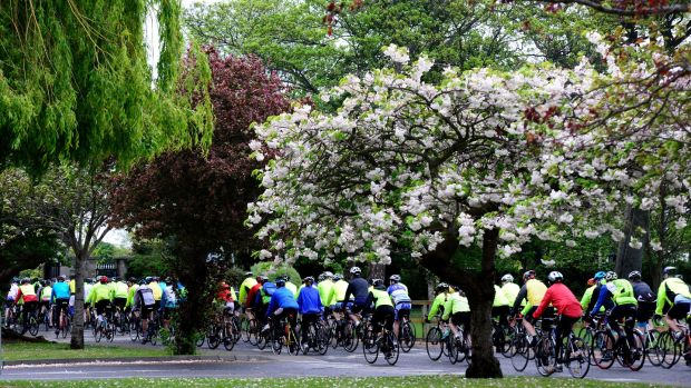 Willow Wheelers in the saddle on their 28th annual cycle through Dublin, Meath and Kildare. Photograph: Cyril Byrne