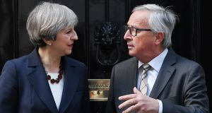European Commission president Jean-Claude Juncker is reportedly more pessimistic about reaching a  Brexit deal with the UK after a dinner with British prime minister Theresa May. Photograph: EPA