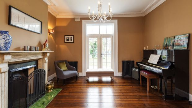 18 Castlewood Avenue in Rathmines: addition of French doors floods one of the four reception rooms with light.