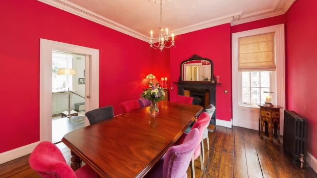 18 Castlewood Avenue in Rathmines: spacious dining room.
