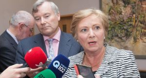 John Costello, chairman of the Parole Board, and  Minister for Justice and Equality Frances Fitzgerald: the Minister is setting up an interdepartmental committee to look into the management of released life-sentence prisoners.  Photograph: Gareth Chaney Collins