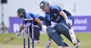 Kevin O'Brien starred with bat and ball as Leinster Lightning beat North West Warriors in the Hanley Energy Interprovincial Cup match at Milverton in Skerries. Photograph: Russell Pritchard/Inpho/Presseye