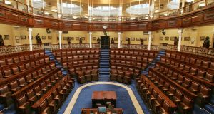 Under proposals agreed by the business committee, the traditional Dáil prayer will continue to be said both in Irish and English, while a period of 30 seconds for silent reflection will also be introduced. File photograph: Alan Betson