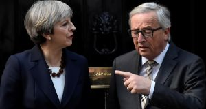 Leaks were given to a German newspaper about the dinner meeting last week between British prime minister Theresa May and European Commission president Jean Claude Juncker. Photograph: Hannah McKay/Reuters