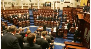 TD and ministers pray in the Dáil chamber.  File photograph: Alan Betson/The Irish Times