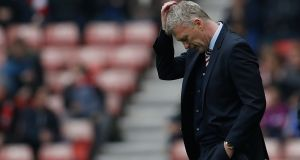 Sunderland manager David Moyes has yet to decide whether or not he will remain at the club next season. Photograph: Reuters