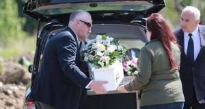 Baby Alannah was laid to rest in Redford Cemetery, Co Wicklow in May last year. Photograph: Nick Bradshaw