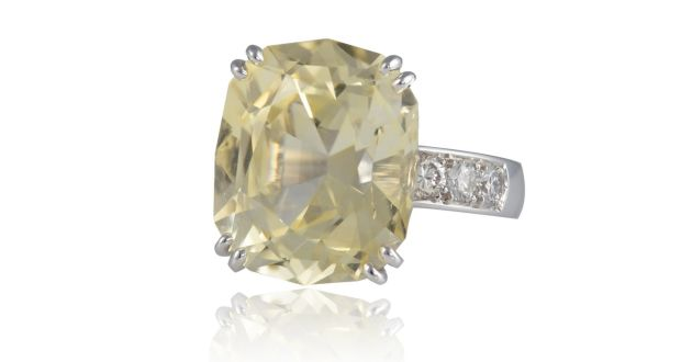 97b466472 Sapphire and diamond ring €16,000-€20,000.
