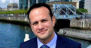 Fine Gael contender: Leo Varadkar, soon to be on the hustings, was putting himself about. Photograph: Cyril Byrne