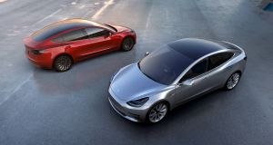 Tesla Motors' new mass-market Model 3 electric cars are expected to go into production in July. The company, owned by billionaire Elon Musk, hopes to produce 500,000 cars annually from 2018. Photograph: Reuters