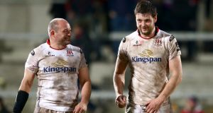 Ulster's Rory Best and Iain Henderson will not play against Leinster this weekend. Photograph: James Crombie/Inpho