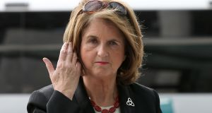 Joan Burton was asked on Thursday if she had attempted to 'smear' the people taking part in a protest at Jobstown in a tweet. Photograph: Collins