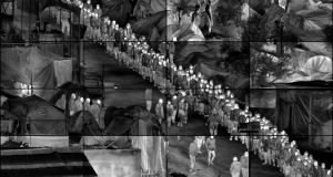 Moria Grid by photographer Richard Mosse
