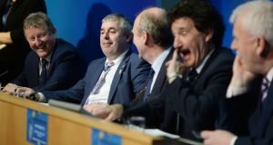'The Independent Alliance: A great bunch of lads.' Photograph: Alan Betson/The Irish Times