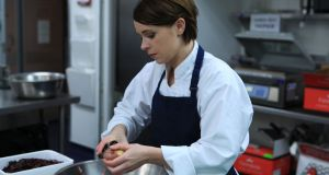 Dubliner Alison O'Reilly in action in the BBC MasterChef kitchen