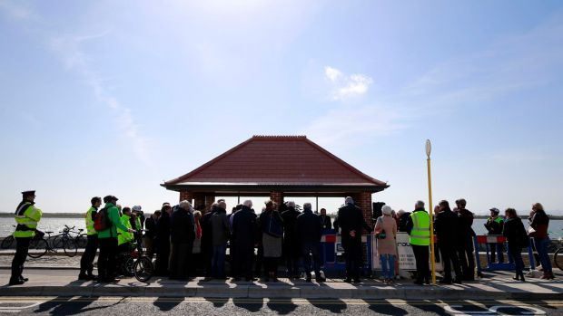 The opening of the latest stage of Sutton to Sandycove (S2S) Cycleway in Clontarf. Photograph Nick Bradshaw/The Irish Times.