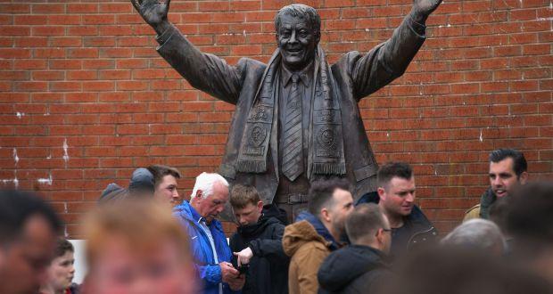 A Statue Of Revered Former Owner Jack Walker Outside Ewood Park Home Blackburn Rovers