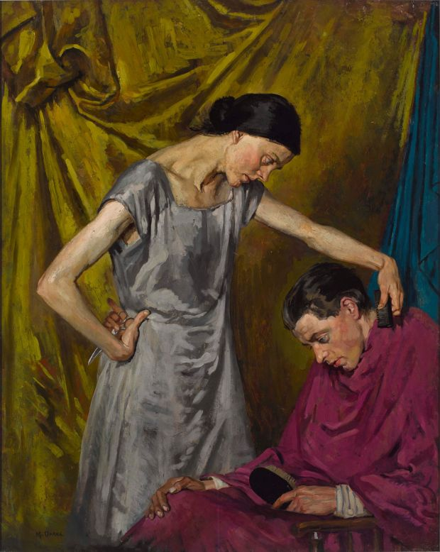 The Wife / The Haircut, circa 1926-27 by Margaret Clarke. Copyright the artist's estate