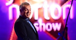Presenter Graham Norton during filming of the Graham Norton show. Photograph: Ian West/PA Wire