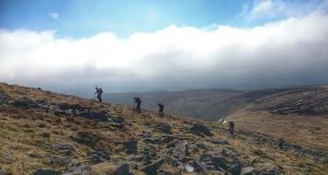 The hills are alive: the Wayfarers hiking club on a walk on Lugnaquila, Co Wicklow