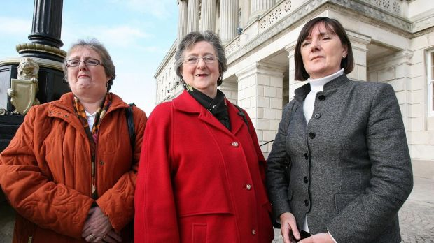 Séamus Ruddy's sisters: (left to right) Molly Carr, Patsy McAteer and Anne Morgan. Photograph: PA