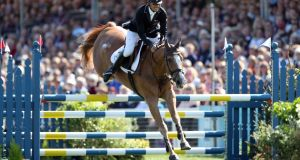 New Zealand's Andrew Nicholson on Nereo during the Badminton Horse Trials. Photograph: Andrew Matthews/PA