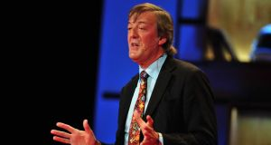 "Stephen Fry: ""The God who created this universe, if it was created by God, is quite clearly a maniac."""