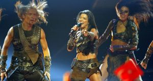 Ruslana delivers her winning performance in the  2004 Eurovision Song Contest in Istanbul. Photograph: Photograph: Murad Sezer/AP