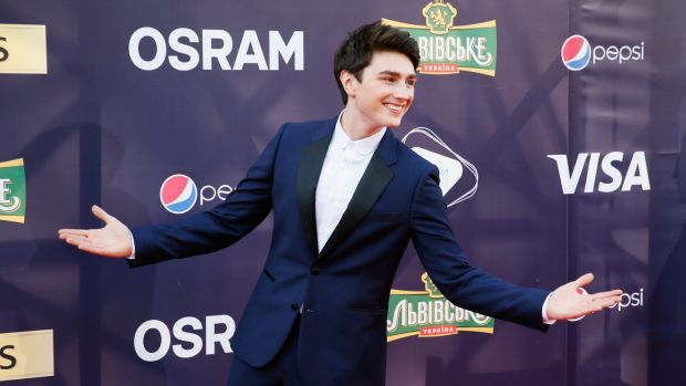 Ireland's Brendan Murray arrives for the opening ceremony of the 62nd annual Eurovision Song Contest in Kiev, Ukraine on Sunday. Photograph: Sergey Dolzhenko/EPA